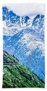 White Pass Mountains In British Columbia Bath Towel