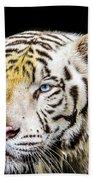 White Tiger Bath Towel