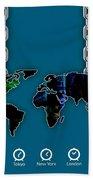 World Map Collection Bath Towel