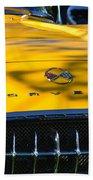 Yellow Corvette Bath Towel