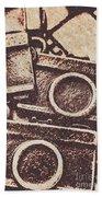 50s Brownie Cameras Bath Towel