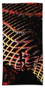 5502s-mak Abstract Vulval Portrait In Red Hand Towel by Chris Maher