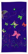 558   Butterflies  V Bath Towel
