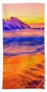 A Landscape Drawing Bath Towel