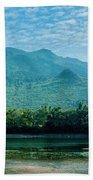 Lijiang River And Karst Mountains Scenery Bath Towel
