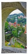 A View Of Cesky Krumlov In The Czech Republic Hand Towel