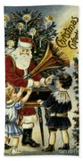 American Christmas Card Bath Towel