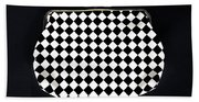 Black And White Hand Towel