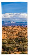 Canyon Badlands And Colorado Rockies Lanadscape Bath Towel