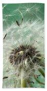 Dandelion Seeds On Flower Head Bath Towel