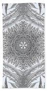 Fern Frost Mandala Bath Towel