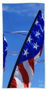 Patriotic Flying Kite Bath Towel