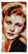 Ginger Rogers Hollywood Actress And Dancer Bath Towel
