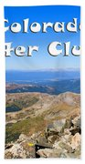 Hikers And Scenery On Mount Yale Colorado Bath Towel