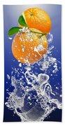 Orange Splash Bath Towel