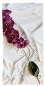 Silk Flower Bath Towel