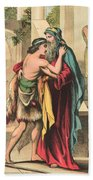 The Return Of The Prodigal Son Bath Towel