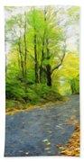 Nature Painted Landscape Bath Towel