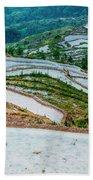 Longji Terraced Fields Scenery Bath Towel