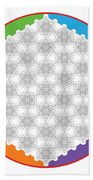 64 Tetra Flower Of Life Bath Towel