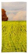 Nature Landscape Oil Painting On Canvas Bath Towel