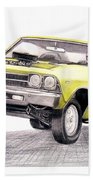 69 Chevelle Ss Hand Towel