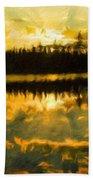 Nature Landscape Light Bath Towel