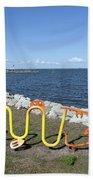 Indian River Lagoon At Eau Gallie In Florida Usa Bath Towel