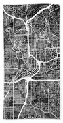 Atlanta Georgia City Map Bath Towel