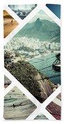 Collage Of Rio De Janeiro Bath Towel