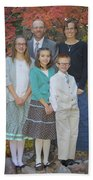 Family Pictures Bath Towel