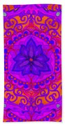 Indian Fabric Pattern Bath Towel