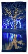 Lights, Christmas, Light, Christmas Tree, Green, Color, Red, Blu Bath Towel