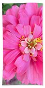 Pink Zinnia Bath Towel