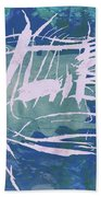 Pop Art Fish Poster Bath Towel