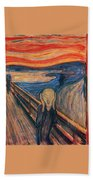 The Scream Ver 1893 Edvard Munch Bath Towel