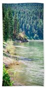 Vast Scenic Montana State Landscapes And Nature Bath Towel