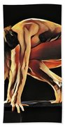 7188s-amg Nude Watercolor Of Sensual Mature Woman Hand Towel by Chris Maher