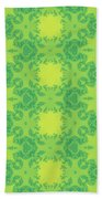 Fractal Floral Pattern Bath Towel