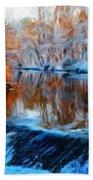 Landscape Drawing Nature Bath Towel