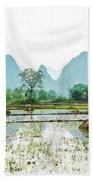 Karst Rural Scenery In Spring Bath Towel