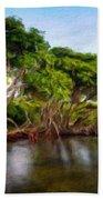 Nature Original Landscape Painting Bath Towel