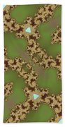 Fractal Floral Pattern Bath Towel