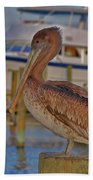 8- Brown Pelican Bath Towel