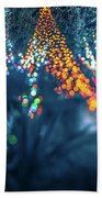 Christmas Season Decorationsafter Sunset At The Gardens Hand Towel