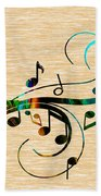Music Flows Collection Bath Towel
