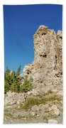 Natural Rock Formation At Mono Lake, Eastern Sierra, California, Bath Towel