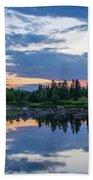 Sunset Down East Maine Bath Towel