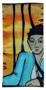 8303-2-  Little Havana Mural Bath Towel