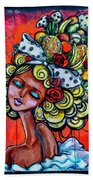 8334-1- Little Havana Mural Bath Towel